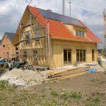 Dacheindeckung beim Massivholzhaus