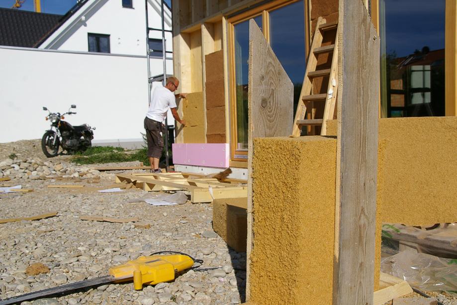 20 cm Holzfaser als Wanddämmung